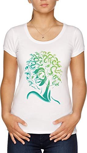 Irre Meduse Damen T-Shirt Weiß