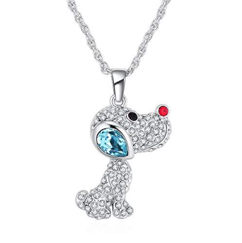 Marni\'s - Lustiger Anhänger, Hund verziert mit bunten Swarovski-Kristallen - Lange Halskette, Muttertag, Geburtstag- Geschenk für Frauen und Mädchen