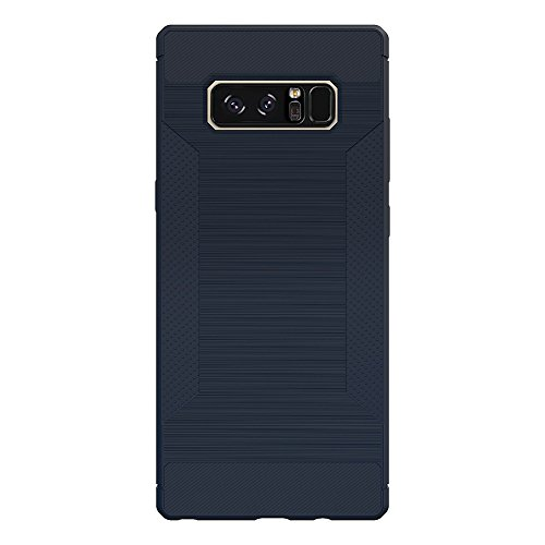 iPhone X Hülle, Voguecase Silikon Schutzhülle / Case / Cover / Hülle / TPU Gel Skin für Samsung Galaxy Note 8(LS/Rutschfest/Schwarz) + Gratis Universal Eingabestift LS/Rutschfest/Dunkelblau