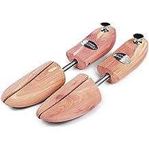 SCHLESINGER – Premium Schuhspanner aus edlem Zedernholz für eine hohe Lebensdauer von Herrenschuhen und Sneakern. Modell König. Verschiedene Größen 39 – 48 in Silber oder Messing.