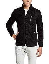 Fort Collins Mens Cotton Coat (6170-ol_X-Large_Black)