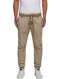 Replay Men's Comfrot Dobby Men's Beige Trousers Cotton