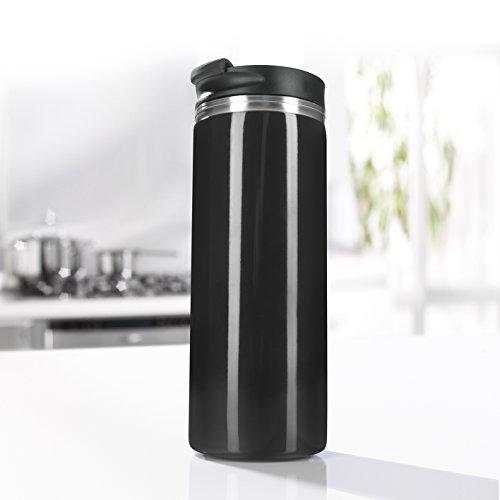 GOURMETmaxx Cafetera de Prensa Francesa y Termo de café para Llevar, 2 en 1, 300 ml, sin extracción Continua, el café no se vuelve más Fuerte con el Tiempo