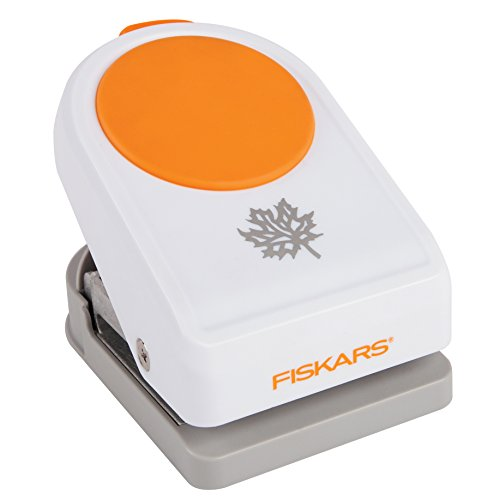 Fiskars Motivlocher Blatt, weiß orange 3359900023952