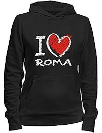 Idakoos I love Roma chalk style - Weibliche Namen - Damen Hoodie