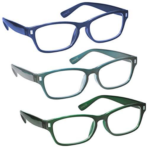 La Compañía Gafas De Lectura Azul Oscuro Aguamarina
