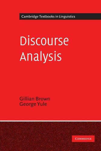 Discourse Analysis (Cambridge Textbooks in Linguistics) por Gillian Brown