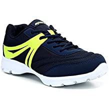 Sparx Men Navy Blue Flourscent Green Mesh Running Shoes -SX0300GNBFG
