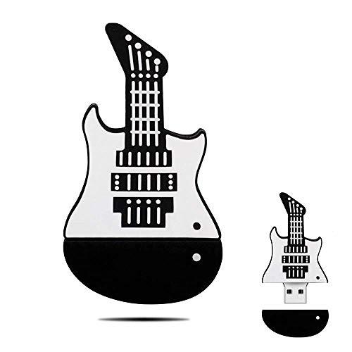 FOWYJ Guitare Cartoon USB Memory Stick, Portabilité USB 2.0 Musique Cute Cartoon Instrument Stick Étanche pour Cadeaux Business School PC,32GB