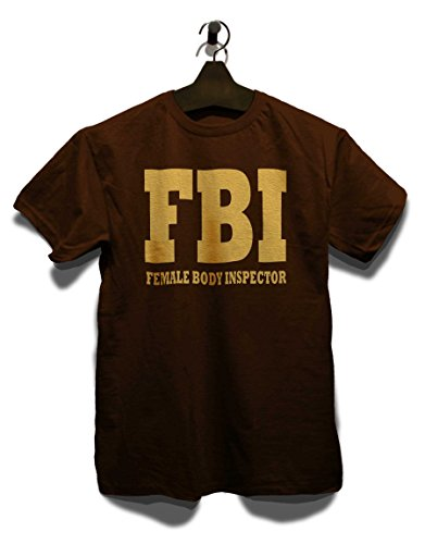 Fbi Female Body Inspector 2 T-Shirt Braun