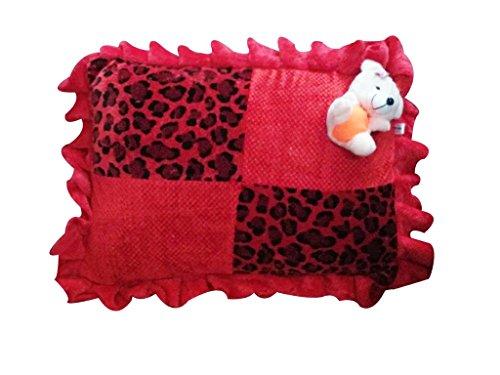 Safe n Cute Baby Rectangular Pillow in Velvet (Red Tiger Printed) -...