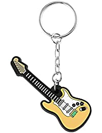 Funnyrunstore Guitarra Eléctrica Llaveros de Silicona Llavero Colgante Llavero Decorativo Modelo de Juguete Titular de la