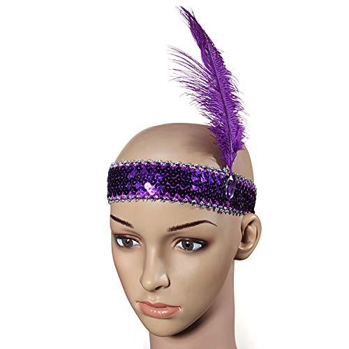 Flapper Kostüm Haar - HANO Marke Flapper Paillette Kostüm-Abendkleid-Haar-Band