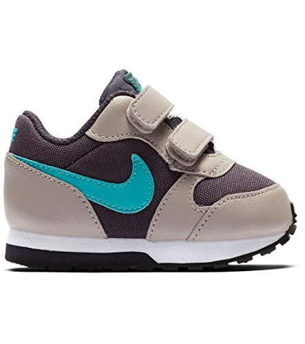 Nike MD Runner 2 (TDV), Zapatillas para Bebés, Gris (Gridiron/Teal Nebula/Pumice/Faded Spruce...