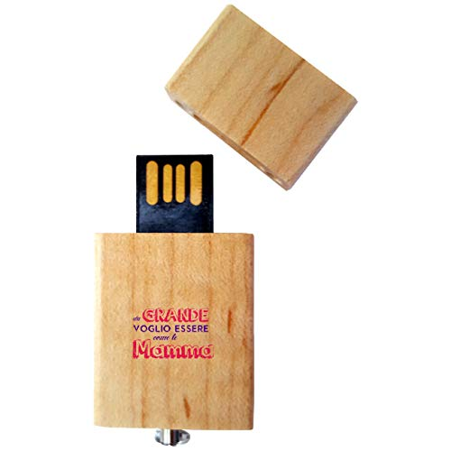My Custom Style Pen Drive USB Kollektion 1#Muttertag 4/8/16 Gb Legno_8 GB FestaMamma Grande -
