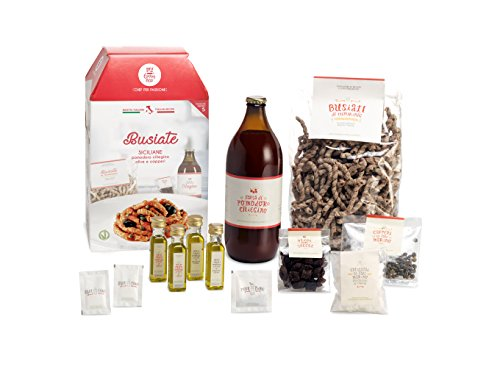 My cooking box - busiate siciliane con pomodoro ciliegino 5 porzioni - idea regalo, cesto natale
