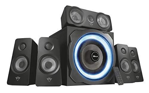 Trust Gaming GXT 658 Tytan 5.1 Surround Lautsprecher Set mit Fernbedienung (180 Watt, LED Beleuchtung) schwarz - 3