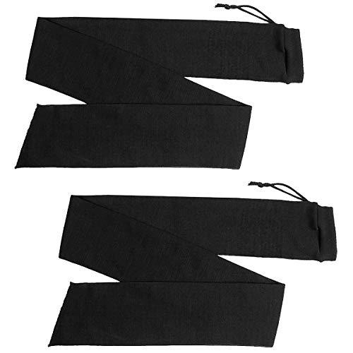 Merdia Pistole Socke Schrotflinte Gewehr Lagerung Pistole Socken Pistole Socke Pistolenhülle Sleeve-53 Zoll Schwarz (Packung mit 2 Stück) -