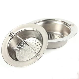alohha 2Edelstahl Küche Spüle Sieb mit Kopf held-large breitem Rand 10,9cm Durchmesser perfekt für Küchenspülen Abläufe und Garbage disposals