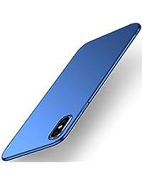 Pacyer Funda para iPhone X, 360 Grados Completa Protectora Carcasa Alta Calidad Ultra-Delgado Anti-Arañazos Resistente Duro Plástico PC Funda Bumper Case Cover para Apple iPhone X-Púrpura