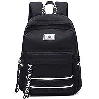 C-Xka Vintage Canvas School Bag Backpack College Casual Bag Canvas Rucksack Travel Bag Laptop Backpack For Girls Teenagers (color : BLACK)