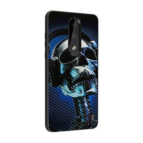 TurtleArmor Schutzhülle für Nokia X3, Nokia 3.1 Plus, schlankes Design, doppelschichtig, mit Gravur, Skeleton Headphone Iphone 3g-skeleton