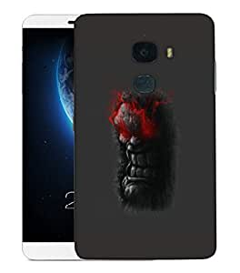 Snoogg Angry Man Designer Protective Back Case Cover For LETV LE MAX 2