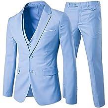 Cloudstyle Hombre Modern Fit Juego Traje de Blazer para Hombre Tux  Pantalones y Chaleco 0ca783e6f7c