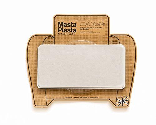 Preisvergleich Produktbild MASTAPLASTA - Peel'n stick leather repair plasta, 200mm x 100mm IVORY plain stitch design