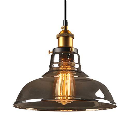 Ruitx Indoor Mini Pendelleuchte, Öl eingerieben Bronze Finish mit Klarglas Moderne Vintage Bauernküche Lampe - Mini-bronze-finish