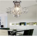ALFRED Moderna Candelabro de Cristal con 3 Luces (acabado cromado) ,Techo luz,montaje empotrado,Bedroom, Living Room