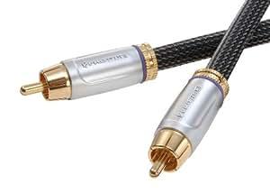 Prowire haut de gamme de câble coaxial numérique (RCA Plug - fiches RCA) 1,5 m (Import Allemagne)