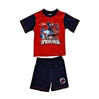 Spiderman Boys Official Short Pyjamas Age 3 To 8 Years