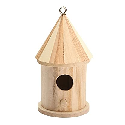Dreammy New Wooden Bird House Birdhouse Hanging Nesting Box Hook Home Garden Decor 1