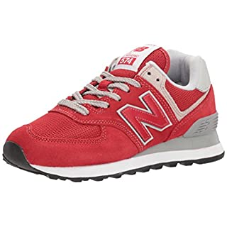 New Balance Herren Ml574E Sneaker, Rot (Team Red/ML574ERD), 44 EU