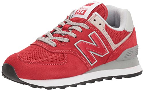 New Balance Herren Ml574E Sneaker, Rot (Team Red/ML574ERD), 42 EU - New Balance-mens Turnschuhe