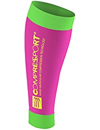 Compressport R2 - Pantorrillera unisex, color rosa fluor, talla 2