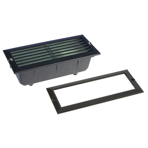IP65, Energiesparend, Brick, Schwarz (Low-voltage-outdoor-deck Beleuchtung)
