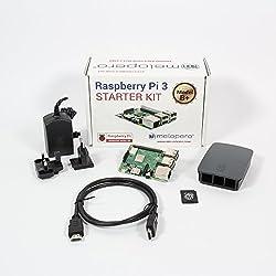 Raspberry Pi 3 Model B+ Official Starter Kit BLACK con 16GB microSD (con Raspbian)
