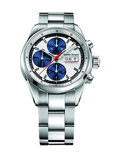 Louis Erard Heritage Collection Swiss automático plata/azul Dial hombres reloj de 78104AA11. bma22