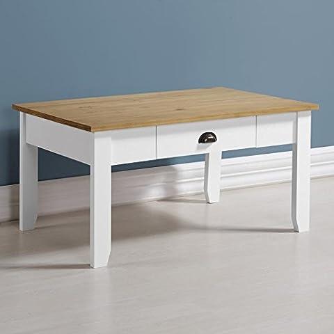 Ludlow Table basse en blanc/chêne
