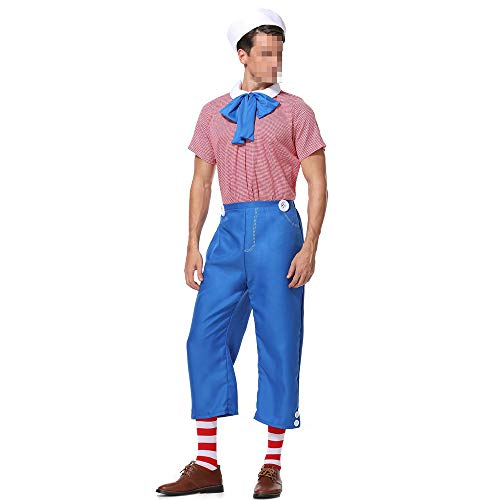 kMOoz Halloween Kostüm,Outfit Für Halloween Fasching Karneval Halloween Cosplay Horror Kostüm,Halloween Herren Erwachsene Cosplay Cosplay Drama Anzug Navy Sailor Set (Sexy Männliche Sailor Kostüm)