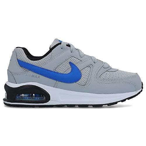NIKE Jungen Sneaker Air Max Command Flex (PS), Scarpe da Ginnastica Basse Bambino, Grigio (Wolf Grey/Signal Blue-Black-Wh 007), 33 EU