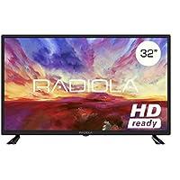 Televisor Led 32 Pulgadas HD, Radiola LD32100K. Resolución 1366 x 768, 3X HDMI, VGA, TDT2, Reproductor y Grabador USB, Color Negro
