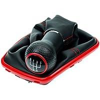 L&P Car Design GmbH 253-2 Funda para Palanca de Cambio con Costura Roja con