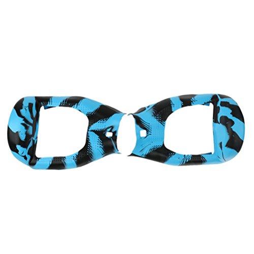 ROSENICE Silikon Schutzhülle Gehäuse für 6.5 Zoll Selbstbalance Roller Hoverboard (schwarz + blau) (Abdeckung Skates Roller)
