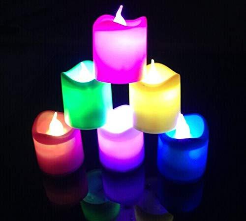 (Li-lamp LED Kerzenlicht Bunte Kerzenlicht Elektronische Kerzenlicht Flammenlose Kerzenlicht Halloween Religiöse Kerzenlicht)