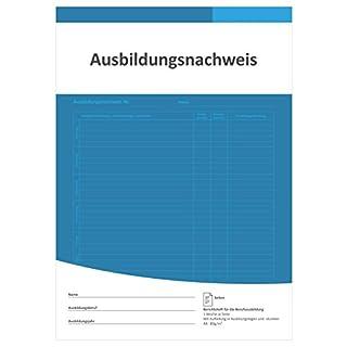 Berichtsheft Ausbildung/Ausbildungsnachweisheft täglich/wöchentlich (DIN A4, 28 Seiten, 1 Woche je Seite, Montag bis Sonntag)