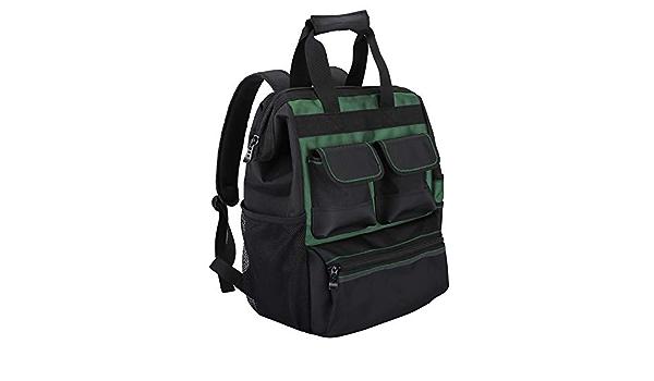 Jakah Men S Waterproof Tool Backpack With Handbag Tool Bag Storage Bag Multifunction Pockets Electricians Amazon De Bekleidung