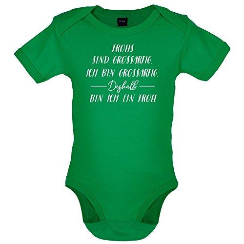 Ich Bin Grossartig - Trolls - Lustiger Baby-Body - Leuchtend Grün - 12 bis 18 (Jungen Kostüm Baby Gnom)